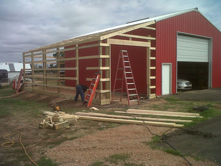 pole barn lean to plans | New Woodworking Ideas